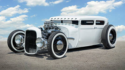 Photograph - 1928 Ford Low Street Rod by Mike McGlothlen