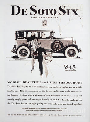 Photograph - 1929 Desoto Auto Advertising by Kevin McCarthy