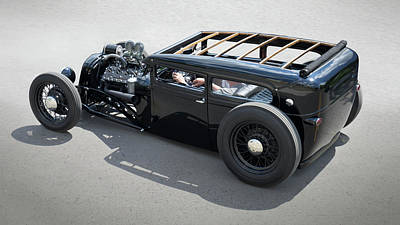 Photograph - 1929 Ford Low Street Rod by Mike McGlothlen
