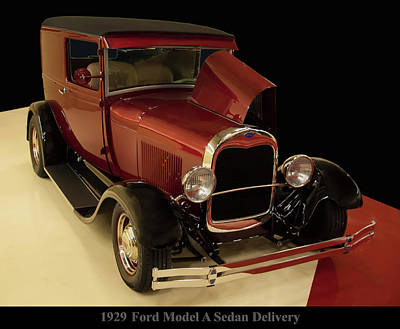 Photograph - 1929 Ford Model A Sedan Delivery by Chris Flees