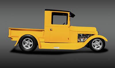 Photograph - 1929 Ford Model T Pickup Truck  -  1929modelafordpickupfa149022 by Frank J Benz