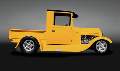 Photograph - 1929 Ford Model T Pickup Truck  - 1929fordmodelttruckgray149022 by Frank J Benz