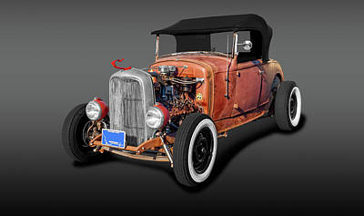Photograph - 1930 Ford Convertible Rat Rod  -  1930fordconvertibleratrodfa196380 by Frank J Benz
