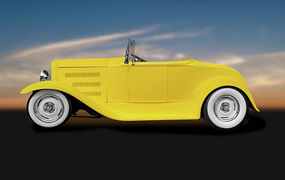 Photograph - 1930 Ford Roadster Convertible  -  1930fordroadsterconvertible186020 by Frank J Benz
