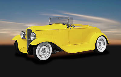 Photograph - 1930 Ford Roadster Convertible  -  1930fordroadsterconvertible186024 by Frank J Benz