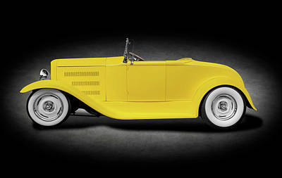 Photograph - 1930 Ford Roadster Convertible   -  1930fordroadstercvspottext186020 by Frank J Benz