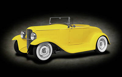 Photograph - 1930 Ford Roadster Convertible   -  1930fordroadsterspottext186024 by Frank J Benz
