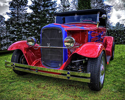 Photograph - 1930 Ford V8 Model A Hot Rod by Thom Zehrfeld
