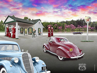 Digital Art - 1930s Home Style Texaco Station by Ed Dooley