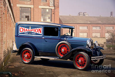 Typography Tees - 1931 Ford Model A Sedan Delivery by Dave Koontz