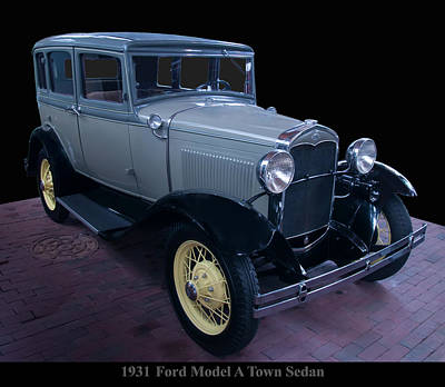 Photograph - 1931 Ford Model A Town Sedan by Chris Flees