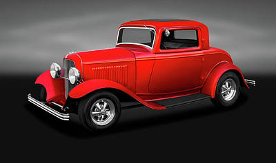 Photograph - 1932 Ford 3 Window Coupe  -  1932ford3windowcoupegray186144 by Frank J Benz