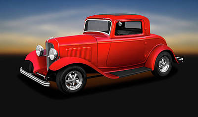 Photograph - 1932 Ford 3 Window Coupe  -  1932fordthreewindowcoupe186144 by Frank J Benz