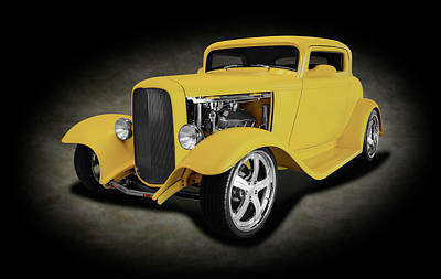 Photograph - 1932 Ford 3 Window Coupe  -  1932fordthreewindowcoupespttext142209 by Frank J Benz