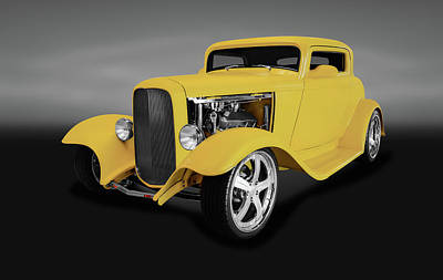 Photograph - 1932 Ford 3 Window Coupe  -  1932fordthreewindowcpegray142209 by Frank J Benz