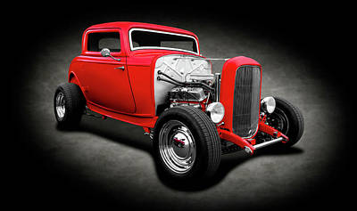 Photograph - 1932 Ford 3-window Deuce Coupe  -  1932ford3windowcoupespttext138139 by Frank J Benz