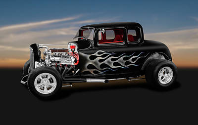 Photograph - 1932 Ford 5-window Coupe  -  1932ford5windowcoupe186014 by Frank J Benz