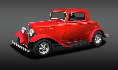 Photograph - 1932 Ford Three Window Deuce Coupe  -  1932ford3windowcoupefa186144 by Frank J Benz