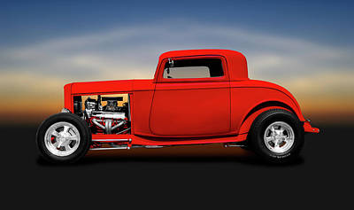 Photograph - 1932 Ford Three Window Deuce Coupe  -  1932fordthreewindowcoupe140542 by Frank J Benz