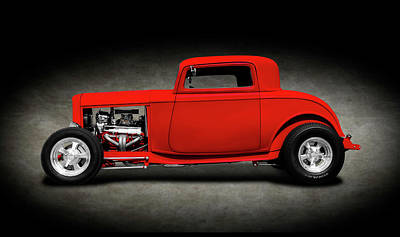 Photograph - 1932 Ford Three Window Deuce Coupe  -  1932fordthreewindowcoupespttext140542 by Frank J Benz