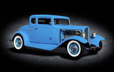 Photograph - 1932 Pontiac 5 Window Coupe  -  1932pontiac5windowcoupespttext185985 by Frank J Benz