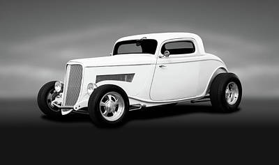 Photograph - 1933 Ford 3 Window Coupe   -  1933ford3windowcoupeblkwhite196599 by Frank J Benz