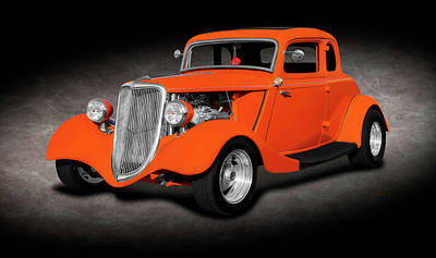 Photograph - 1934 Ford 5 Window Coupe  -  1934fivewindowfordcoupesptext141167 by Frank J Benz