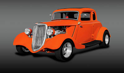 Photograph - 1934 Ford 5 Window Coupe  -  1934ford5windowcoupefa14167 by Frank J Benz
