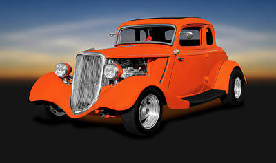 Photograph - 1934 Ford 5 Window Coupe  -  1934fordfivewindowcoupe141167 by Frank J Benz
