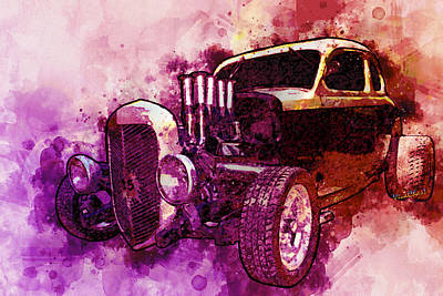 Digital Art - 1935 Ford Coupe Greatest Hot Rod Of All Time by Chas Sinklier