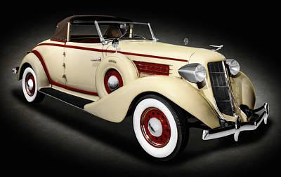 Photograph - 1936 Auburn 654 Cabriolet   -   36auburn654cabrioletspttext171778 by Frank J Benz