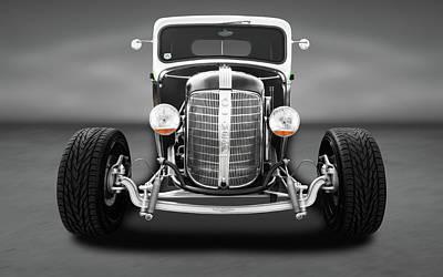 Photograph - 1936 Chevrolet Pickup  -  1936chevypickuptrkgrayflr196306 by Frank J Benz