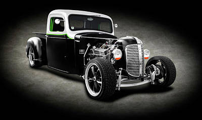 Photograph - 1936 Chevrolet Pickup Truck  -  1936chevroletpickuptrucksptext196304 by Frank J Benz