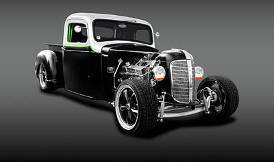 Photograph - 1936 Chevrolet Pickup Truck  -  1936chevypickuptruckgray196304 by Frank J Benz