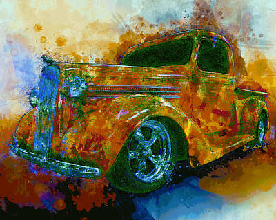 Digital Art - 1936 Dodge Pickup Truck Street Machine Dream by Chas Sinklier