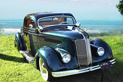 Photograph - 1936 Ford 3-window by Bill Dutting