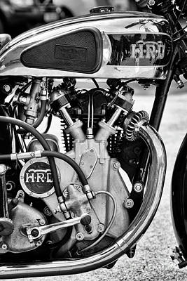 Photograph - 1936 Vincent Hrd Comet Monochrome by Tim Gainey