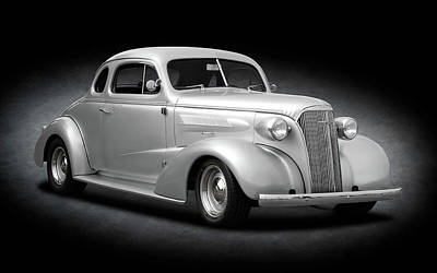Photograph - 1937 Chevrolet Master Deluxe Coupe  -  1937chevroletcoupespottext170251 by Frank J Benz