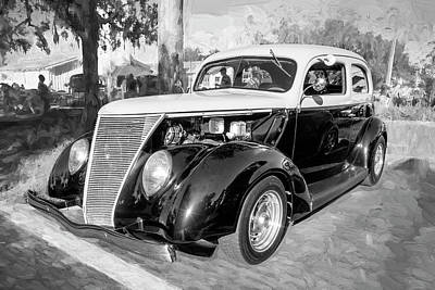 Photograph - 1937 Ford 2 Door Slant Back Hot Rod 13a by Rich Franco