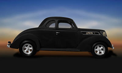 Photograph - 1937 Ford 5 Window Coupe  -  1937ford5windowcoupe173589 by Frank J Benz