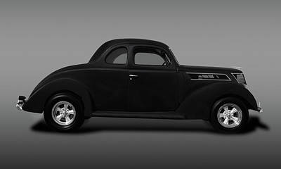 Photograph - 1937 Ford 5 Window Coupe  -  1937ford5windowcoupefine173589 by Frank J Benz