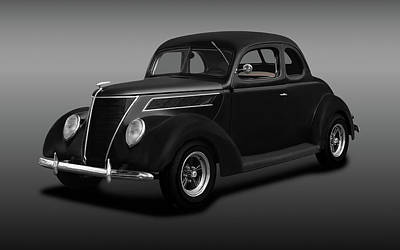 Photograph - 1937 Ford 5 Window Coupe  -  1937ford5windowcoupefine173664 by Frank J Benz