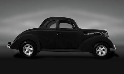 Photograph - 1937 Ford 5 Window Coupe  -  1937ford5windowcoupegray173589 by Frank J Benz