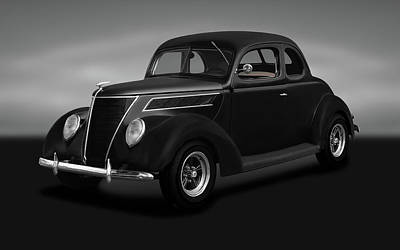 Photograph - 1937 Ford 5 Window Coupe  -  1937ford5windowcoupegray173664 by Frank J Benz