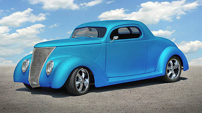 Photograph - 1937 Ford Coupe by Mike McGlothlen