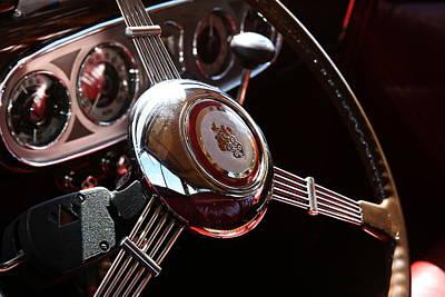 1937 Vintage Model 1508 Steering Wheel Art Print