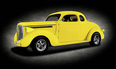 Photograph - 1938 Dodge Brothers D-8 Business Coupe  -  1938dodgebrothersd8cpeyeltext196452 by Frank J Benz