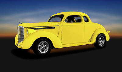 Photograph - 1938 Dodge Brothers D-8 Business Coupe  -  1938dodgebusinesscoupeyel196452 by Frank J Benz
