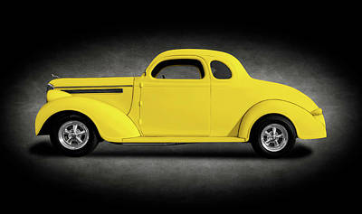 Photograph - 1938 Dodge Brothers D-8 Business Coupe  -  1938dodgebusinesscoupeyeltext196453 by Frank J Benz