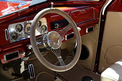 Photograph - 1938 Pontiac Silver Streak Interior by Debi Dalio